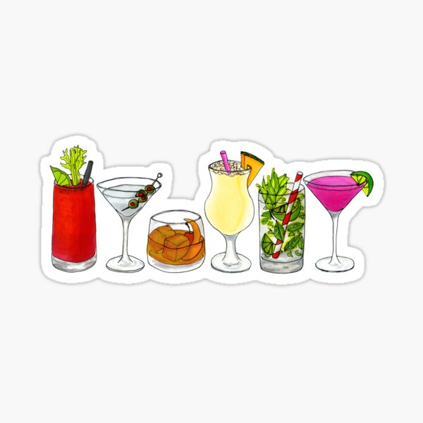 Classic cocktail collection Sticker