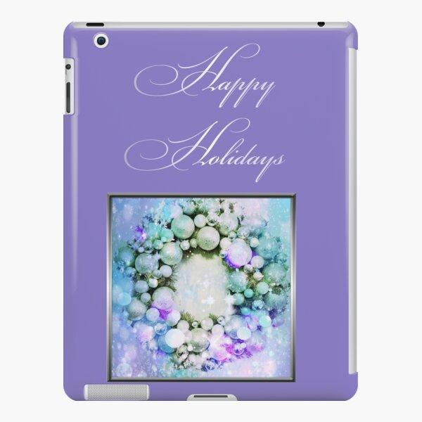 Happy Holidays Purple iPad Snap Case