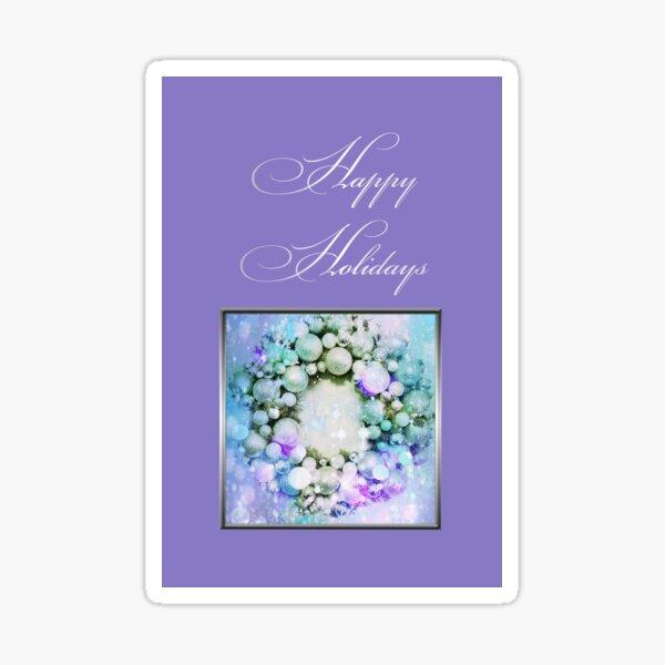 Happy Holidays Purple Sticker