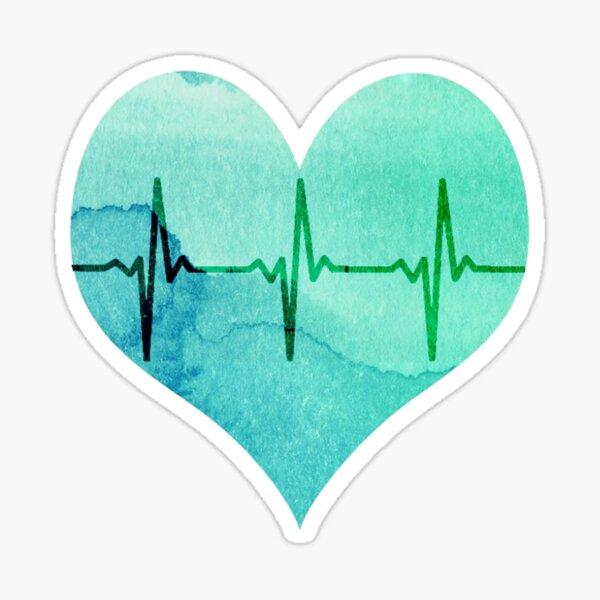 """Heart Beats """"Pearl Aqua"""" Sticker"""