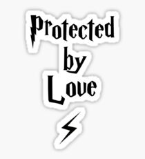 Protected by love - Cute wizard design  Sticker