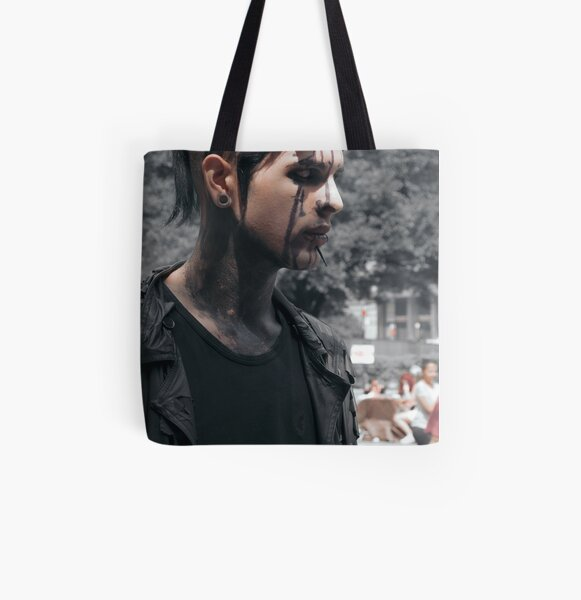 Zombie Walk All Over Print Tote Bag