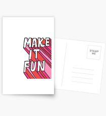 Make it Fun! Postcards