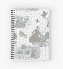 Turning Da Hay - Mist Spiral Notebook