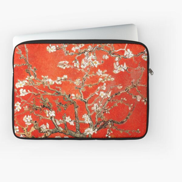 Red Almond Blossoms Van Gogh (new color edit) Laptop Sleeve
