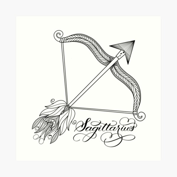 Hand Drawn Bow Arrow Motif with Leaves Flowers Astrology Sign Background for Baby Birthday Party Wedding Vinyl Studio Props Photography Zodiac Sagittarius 10x15 FT Photography Backdrop