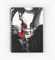 Red On Black Spiral Notebook