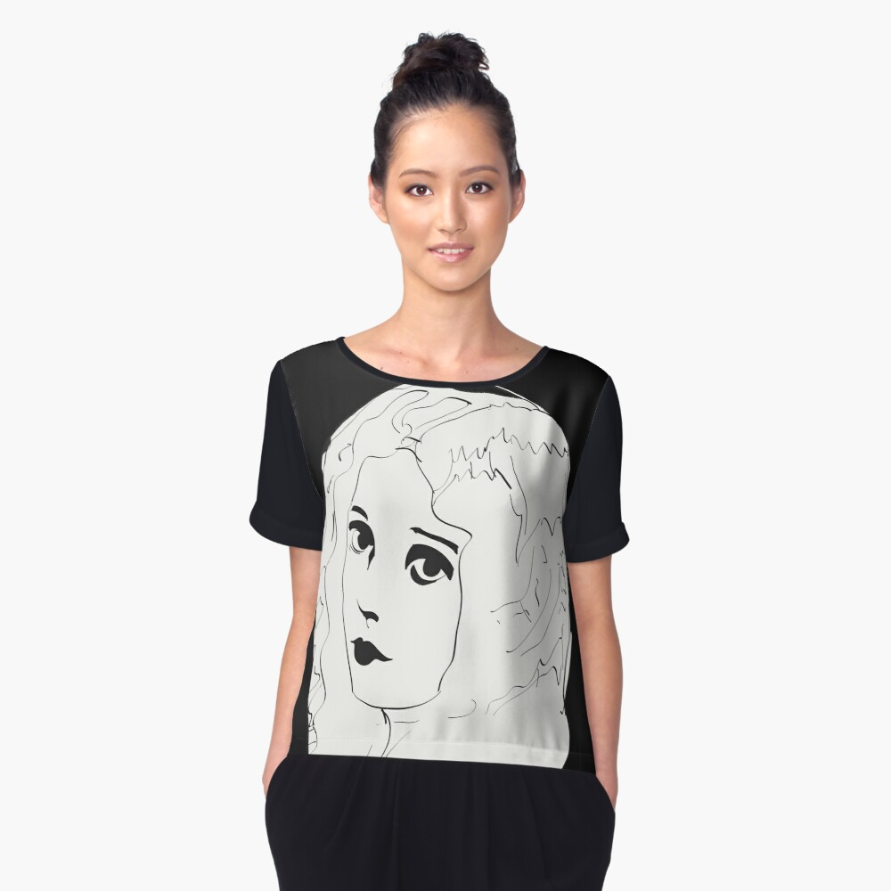 Silent Movie Actress Women's Chiffon Top Front