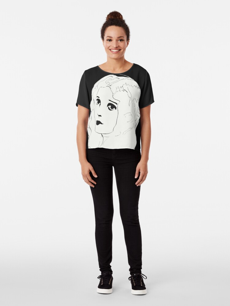 Alternate view of Silent Movie Actress Chiffon Top