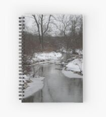 Looking Down The Icy River Spiral Notebook