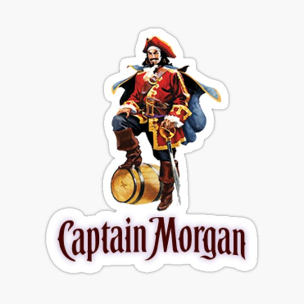 Captain Morgan Spiced Rum Pirate Logod Full Color Window Decal Sticker