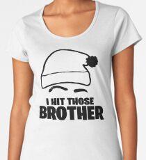 Camiseta premium de cuello ancho ¡Golpe a aquellos, hermano! Camisa Daequan Loco