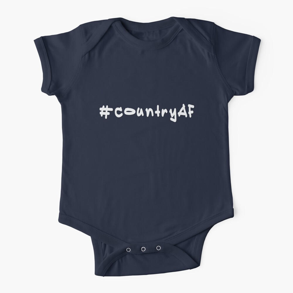 #countryAF - Weißer Text Baby Body