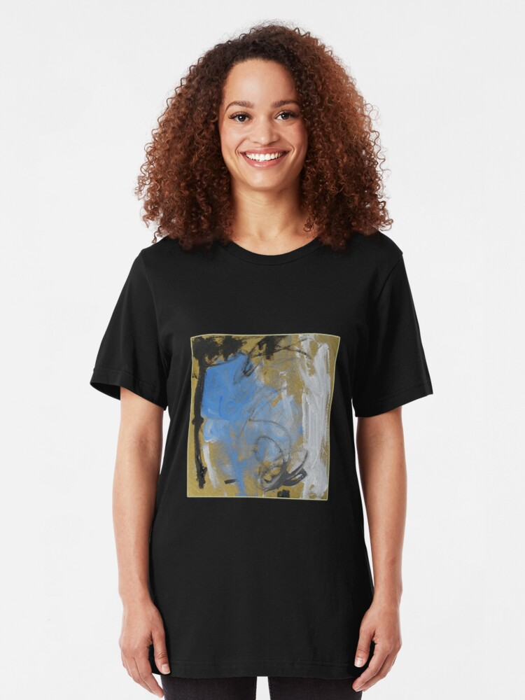 Alternate view of Abstract before Christmas Slim Fit T-Shirt