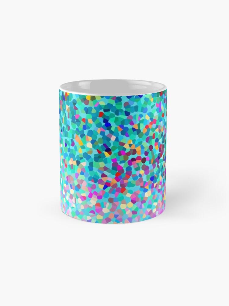 Alternative Ansicht von Aqua Blue Mehrfarbige Abstrakte Kunst Formt Muster Tasse