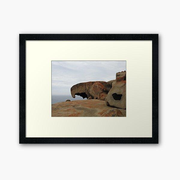 Remarkable Rocks at Kangaroo Island, South Australia  Framed Art Print