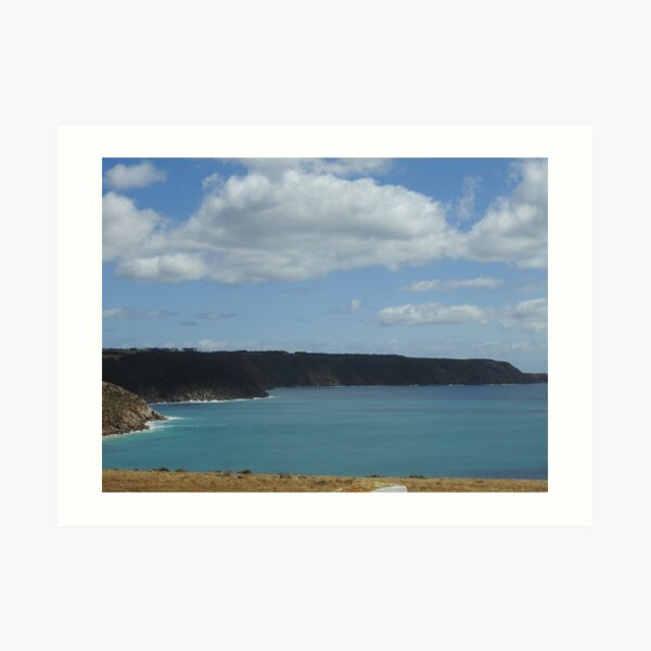 View from Cape Willoughby Lightstation Walk, Kangaroo Island, South Australia  Art Print