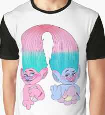 Satin and Chenille Graphic T-Shirt