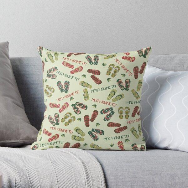 Kiwi Christmas Throw Pillow