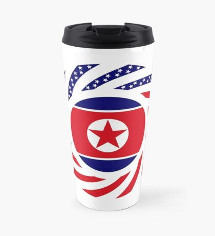 North Korean American Multinational Patriot Flag Series Travel Mug