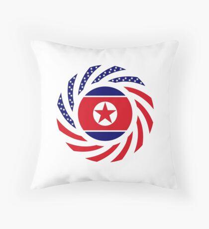 North Korean American Multinational Patriot Flag Series Throw Pillow