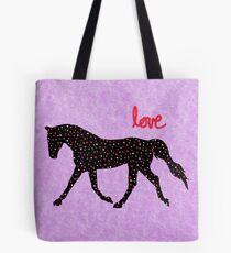 Niedliches Pferd, Herzen und Liebe Tote Bag