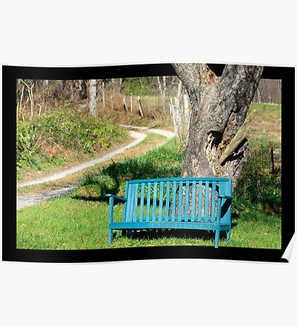 Bench by Tree Poster