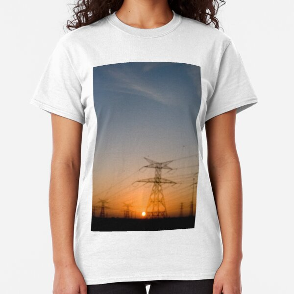 Blurred Power Lines Classic T-Shirt