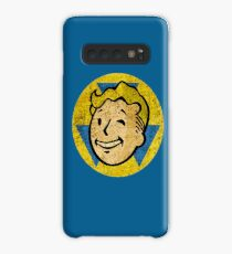 Fallout Gift - Vault Boy Wink Face - Distressed - Vintage Style Case/Skin for Samsung Galaxy