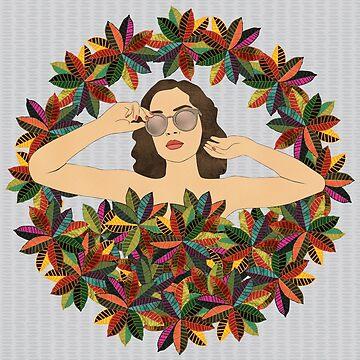 Croton Wreath by janetcarlson
