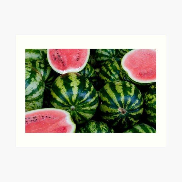 Watermelon Crazy Art Print