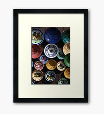 Moroccan Plates Framed Print