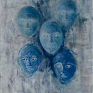 Some of the Women II (Blue) by PTartist