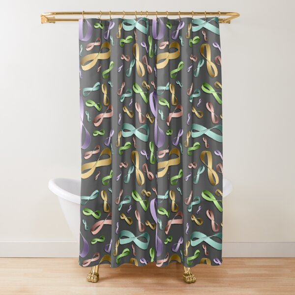Moebius Grey by Hypersphere Shower Curtain