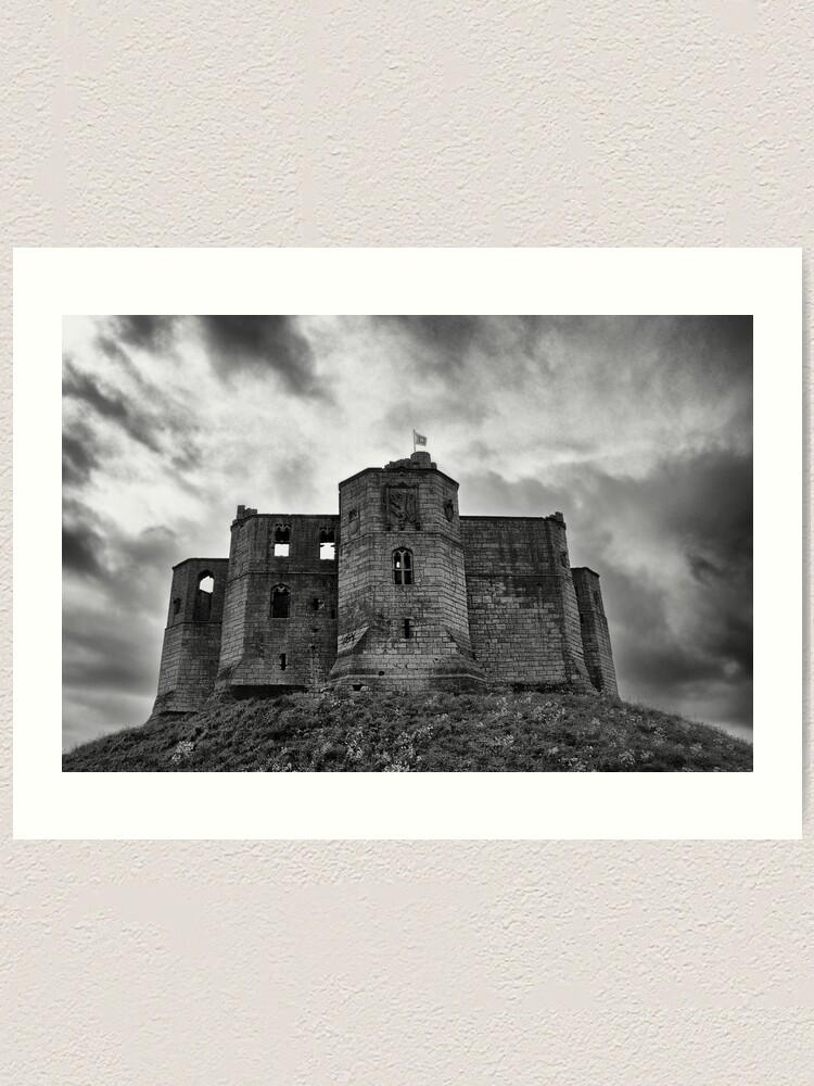 Alternate view of Warkworth Castle: Northumberland Art Print