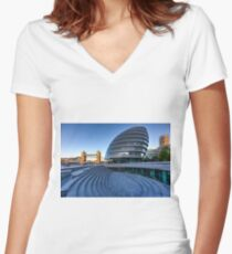 London City Hall Women's Fitted V-Neck T-Shirt