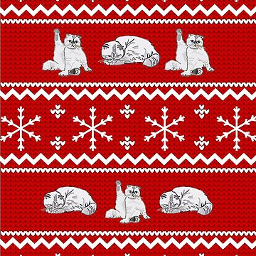 Ugly Christmas Cat Sweater by alexshannon