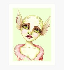 Goblin Girl Wishes Art Print