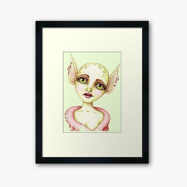Goblin Girl Wishes Framed Art Print