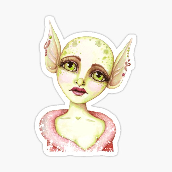 Goblin Girl Wishes Sticker