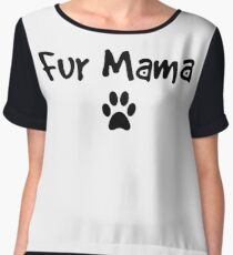 Fur Mama Dark Small Paw Chiffon Top