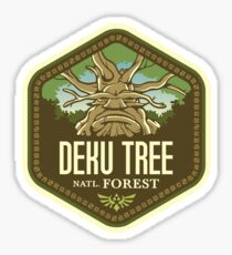Pegatina Bosque Nacional Deku Tree