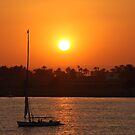 Sunset on the Nile by Peter Gostelow