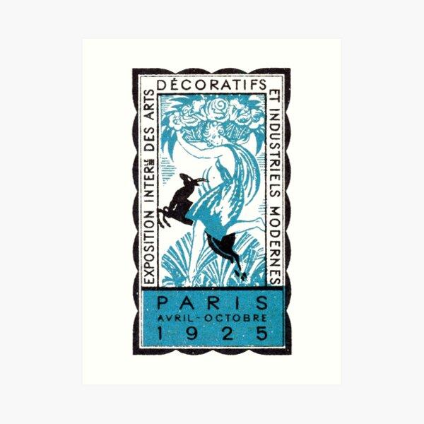 1925 Paris Art Deco Exhibition Art Print