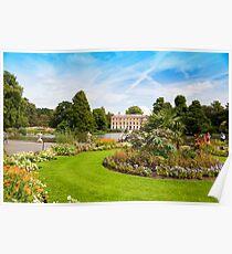 The Flower Borders: Kew Gardens London UK Poster