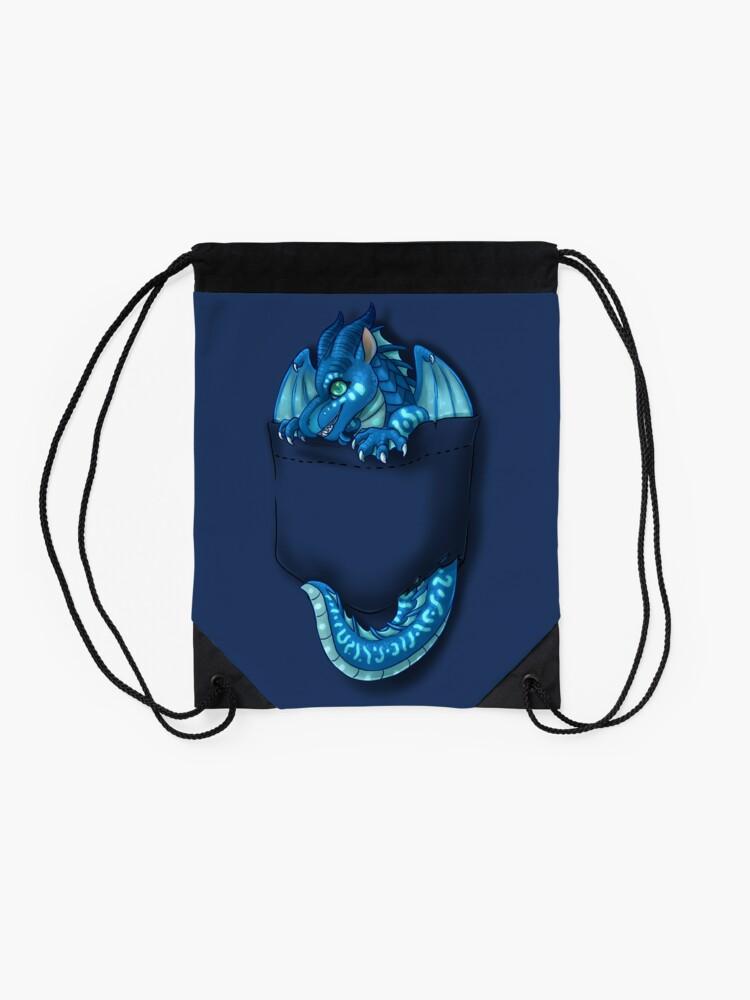 Alternate view of Wings of Fire - Pocket Tsunami Dragon Drawstring Bag