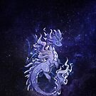 Cosmic Elemental Smoke Dragon by Rebecca Golins