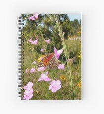 Gulf Fritillary in Purple Gerardia Spiral Notebook