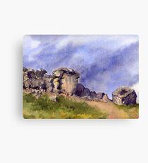 Cow and Calf Rocks, Ilkley Moor Canvas Print