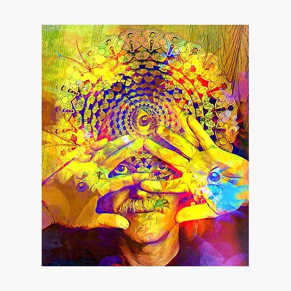 Ram Dass Spiritual Trippy Third Eye Healing  Photographic Print